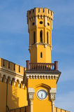 Tower with clock on rail station, Wroclaw, Poland Stock Photography