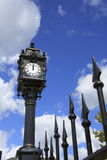 Tower Clock & Railings Royalty Free Stock Photo