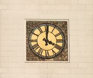 Tower clock with roman digits Royalty Free Stock Images