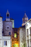 Tower clock in Split Croatia stock images