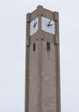 Tower clock. On a street Royalty Free Stock Images
