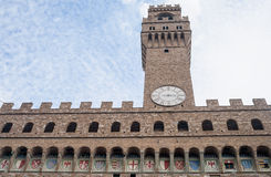 Tower clock on the tower in Rimini, Italy Stock Images