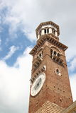 Tower of clock (Verona, Italy). High tower of clock in Verona, Italy Royalty Free Stock Photography