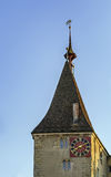 Tower with clock, Zurich Stock Image