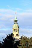 Tower with clocks of Loreta. Tower with clocks and 27 bells of Loreta in Prague Czech Republic Stock Photos