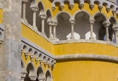 Tower close up of Pena Nacional Palace in Sintra Stock Images