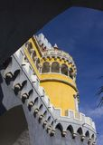 Tower close up of the Pena National Palace Stock Images