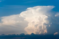 Tower of clouds Stock Images