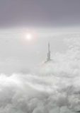 Tower in clouds Royalty Free Stock Photos