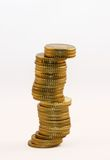 Tower of coins Royalty Free Stock Photo