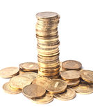 Tower of coins Royalty Free Stock Photos