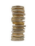 Tower of coins Stock Images