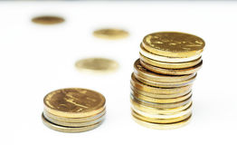 Tower of coins Royalty Free Stock Images