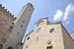 Tower and Collegiate Church of San Gimignano, Italy Royalty Free Stock Photography