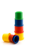 Tower of colorful cups Stock Image