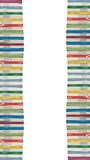 Tower of colorful real books. Isolated tower of colorful real books on white background Stock Image