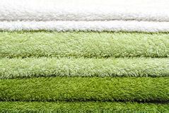 Tower of colorful towels Royalty Free Stock Images