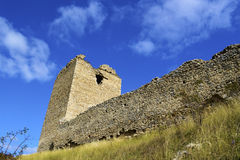 Tower of Coltesti fortress built in the 13th centu. Ry in Transylvania, Romania Stock Photography