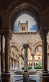 Tower Columns Cloister Monreale Cathedral Royalty Free Stock Photos