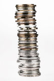 Tower Combined From Coins Royalty Free Stock Photography