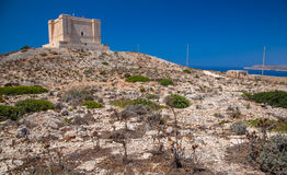Tower at Comino, Malta Royalty Free Stock Photography