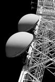 Tower of communication with antennas Stock Images