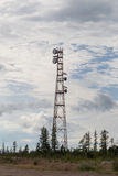 Tower communication with antennas Stock Photo