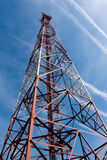 Tower of communication on background of blue sky Royalty Free Stock Photography