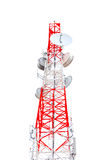 Tower of communication on white background Royalty Free Stock Photography