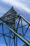 The tower of communications satellite launch center stock image