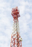Tower for communications with telecommunications Royalty Free Stock Photography