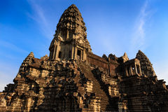 Tower Complex At the Centre of Angkor Wat Royalty Free Stock Image