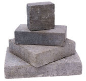 Tower of concrete construction blocks Royalty Free Stock Photo