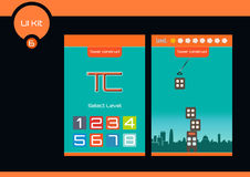 Tower Construct Set of flat UI design for mobile games Royalty Free Stock Photography
