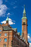 Tower of Copenhagen City Hall, Denmark Stock Photo