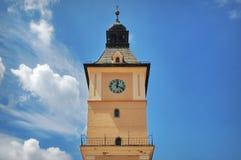 Landmark attraction in Brasov, Romania: The tower of the Council House. Landmark attraction in Brasov, Romania: Detail of the tower of The Council House Stock Photography