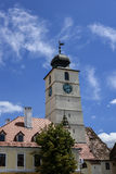 Tower of council in Sibiu Stock Photo