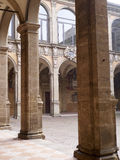 Tower and courtyard of Archiginnasio palace - the first official Royalty Free Stock Photography