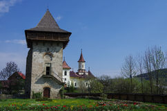 Tower from courtyard of Humor Monastery located in Gura Humorulu Stock Photography