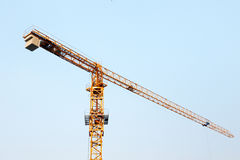Tower crane. With cambridge blue sky background Royalty Free Stock Images