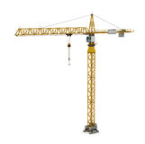 Tower Crane. 3D render of Tower Crane on white background Stock Photography