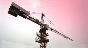 A tower crane. With dusk background royalty free stock photo