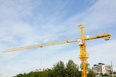 Tower crane against sky Royalty Free Stock Images