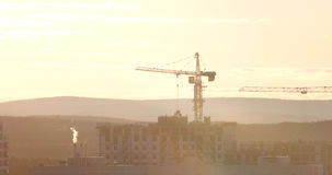 Tower crane against the sky in the afternoon. Ekaterinburg, Russia Royalty Free Stock Images