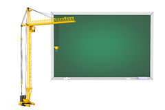 Tower Crane with Blackboard Royalty Free Stock Photos