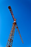 Tower crane on blue background Stock Images