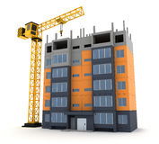 Tower crane building construction Royalty Free Stock Photo