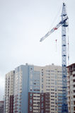 Tower crane and building. Tower crane and multi-storey building Royalty Free Stock Photos