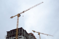 Tower crane and building Stock Image
