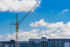 Tower crane and building site Stock Photography